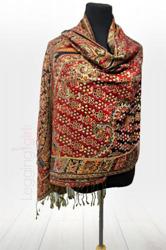 A Thing of Beauty Scarf - Wine