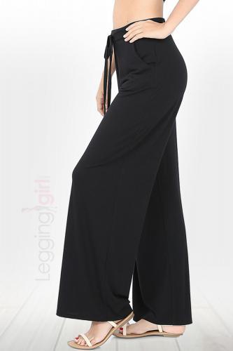 Loose Fit - Solid Black Lounge Pants