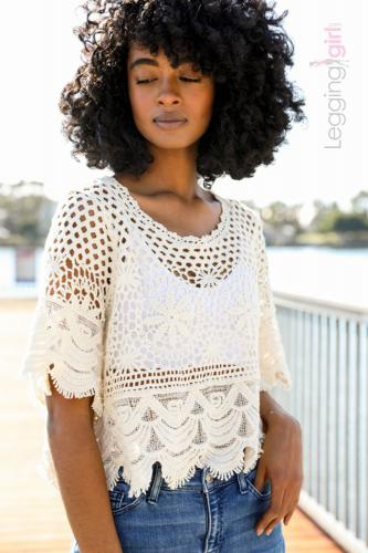 Crochet Crop Top -  Natural